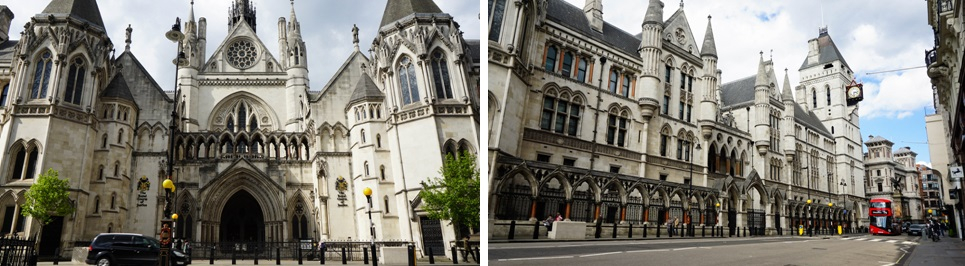 Royal Courts of Justice in Londen