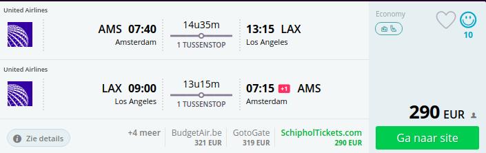 Goedkope vluchten naar Los Angeles